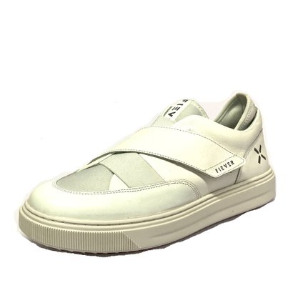 Tênis Fiever Elastic X Branco Cinza Velcro Couro