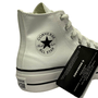 Tênis Converse All Star Hi Branco Couro Plataforma